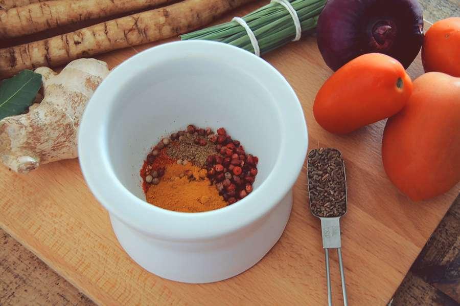 receita de curry de couve-flor