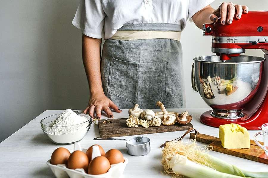 torta de cogumelos