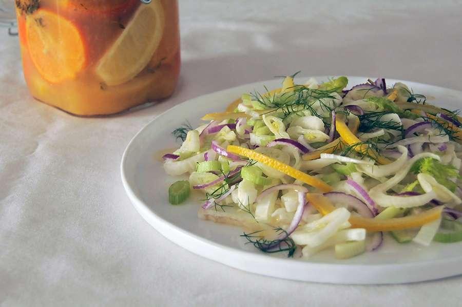 salada de erva-doce funcho