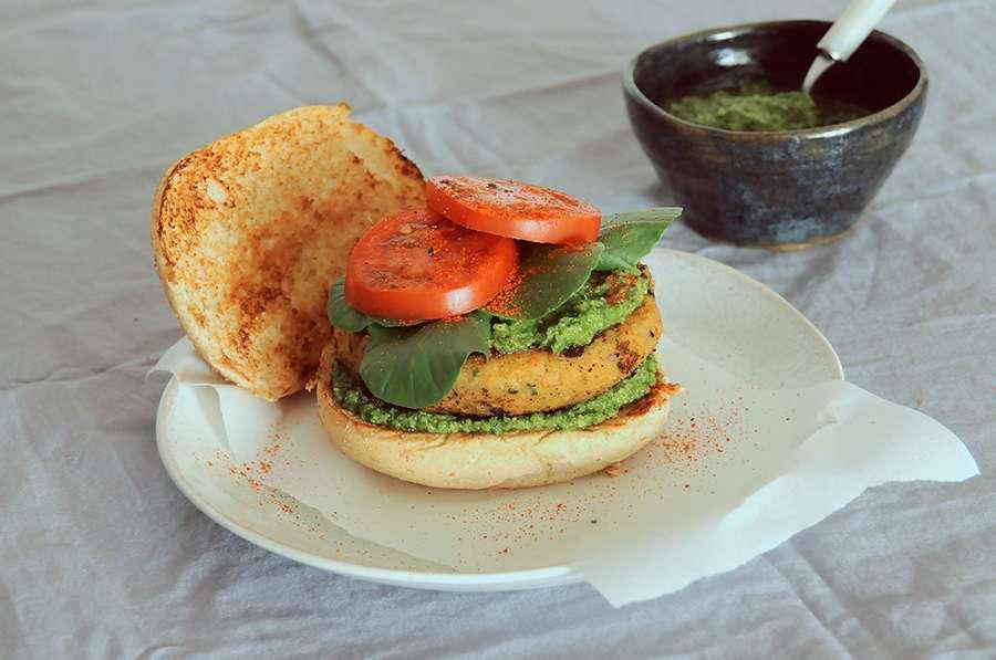 receita hamburger de lentilha vegano